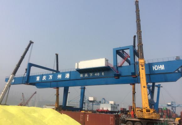 万州港龙门吊安装工程
